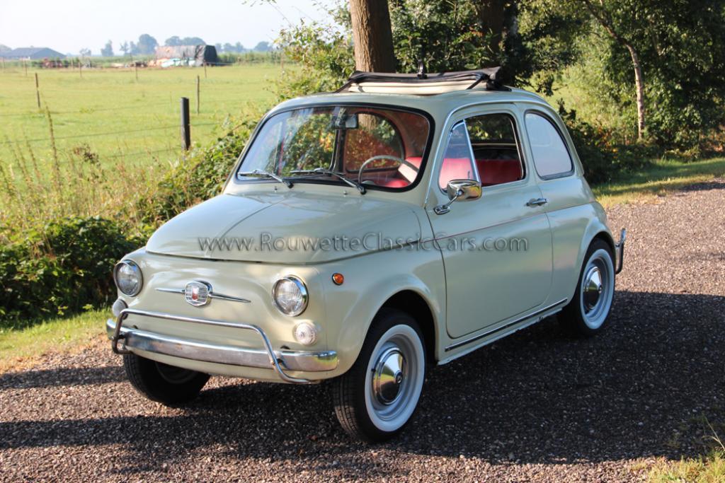 fiat 500 f beige classic cars rouwette classic cars. Black Bedroom Furniture Sets. Home Design Ideas